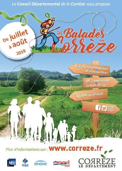 affiche balades en Corrèze