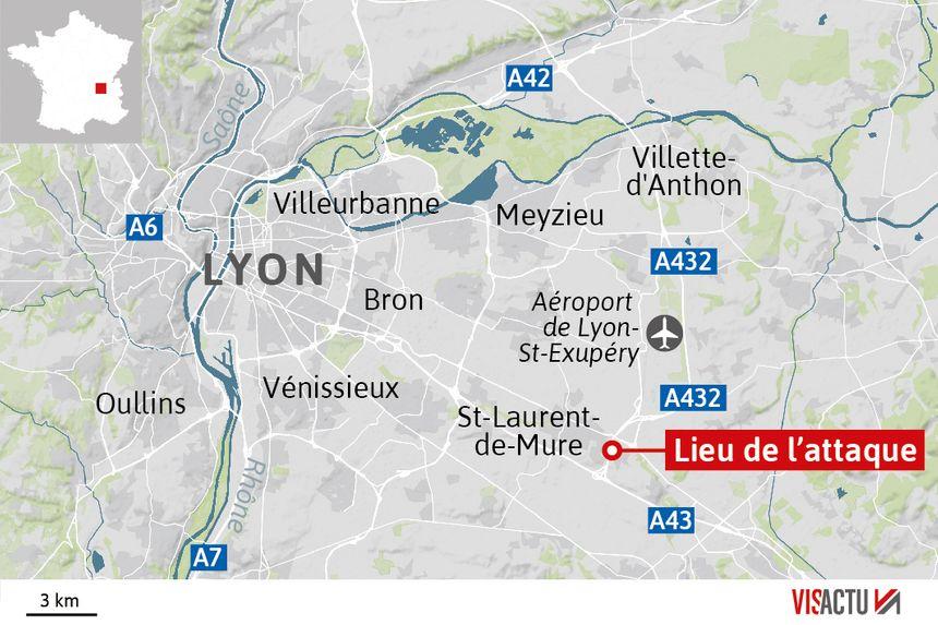 Una furgoneta de efectivo en tránsito señaló a la A43 cerca de Lyon, herida. - Visactu