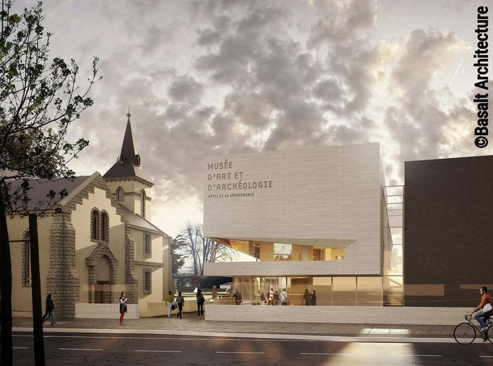 This is what the entrance to the future museum will look like, seen from rue de la Sénatorerie