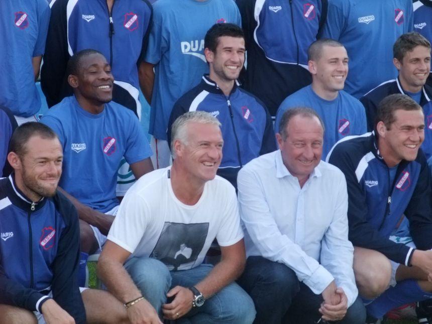 Didier Deschamps passe souvent faire un coucou au club de Concarneau