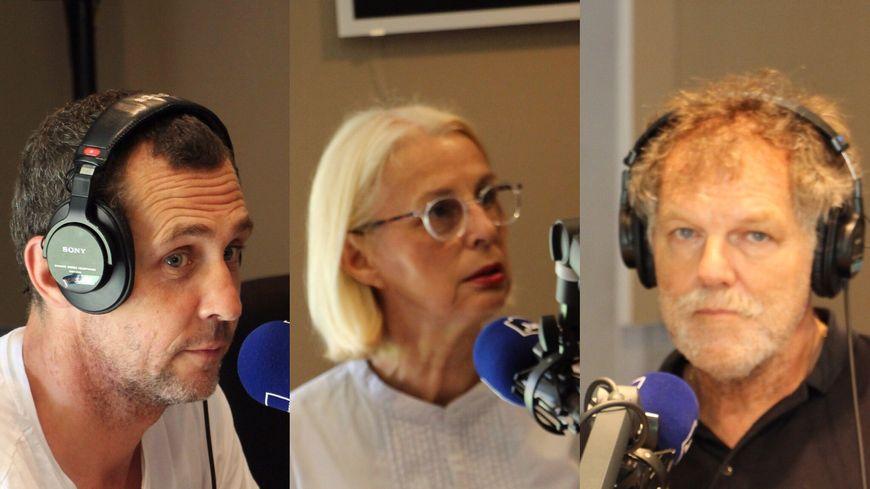 Pierre Beyffete président de Avignon Festival et Compagnie, Annie Montagard la fondatrice du festival de cinéma italien, Michel Eymenier président d'Avignon Jazz festival