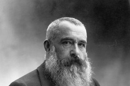 Portrait de Claude Monet (1840-1926), peintre impressionniste. Photographie de Nadar en 1899.