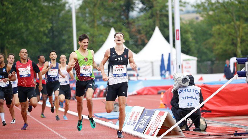 Pierre-Ambroise Bosse, à l'arrivée de la finale du 800 mètres