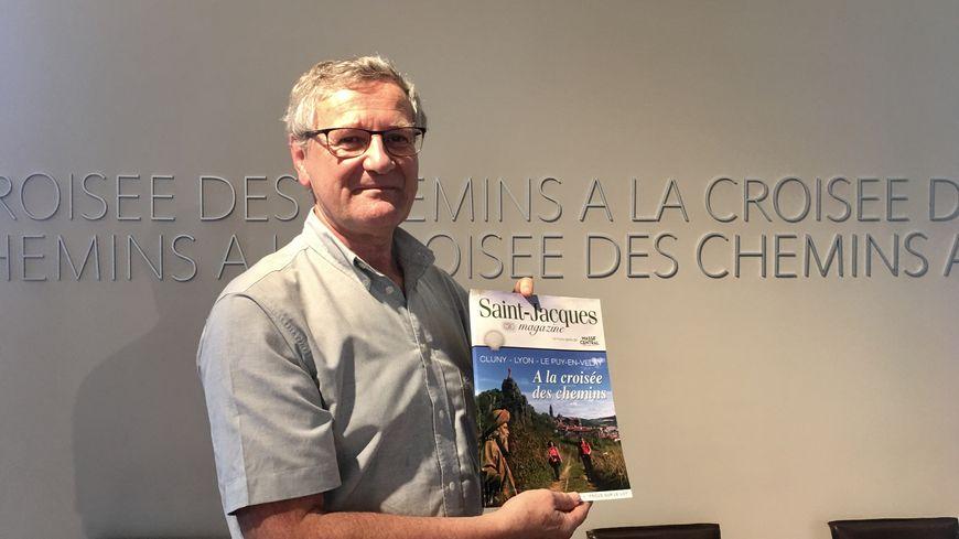 Gérard Beaume est en charge des chemins de Compostelle à la communauté d'agglomération du Puy-en-Velay