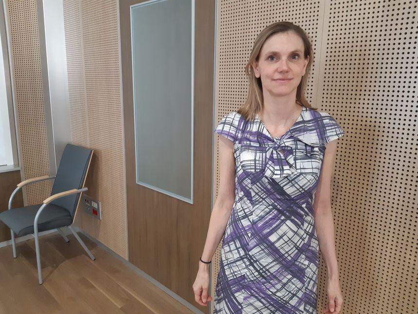 La secrétaire d'Etat Agnès Pannier-Runacher dans les locaux de la préfecture de la Somme