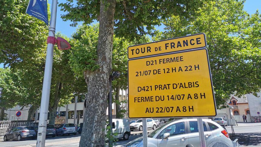 La montée du Prat d'Albis est fermée depuis le 14 juillet