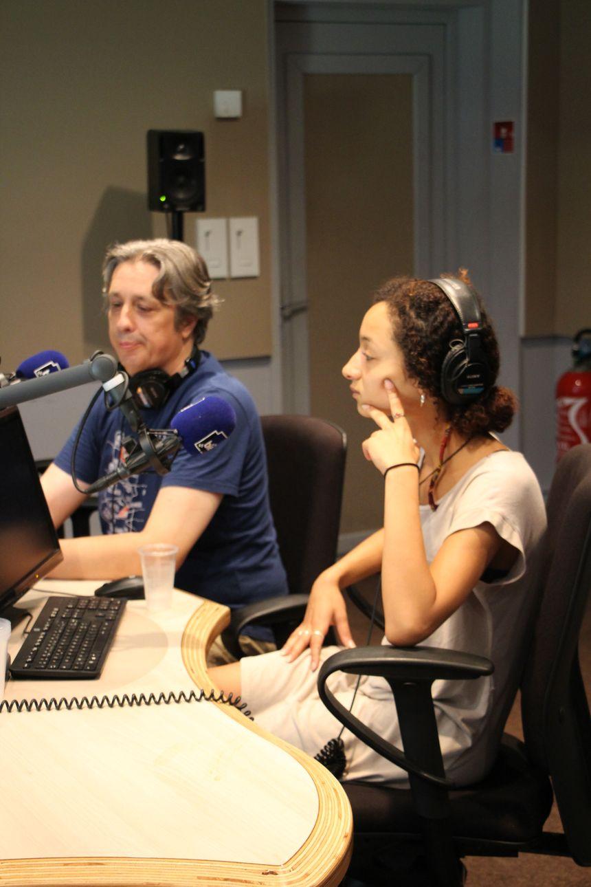 Yves Sauton metteur en scène et Imane Benaziza interprète