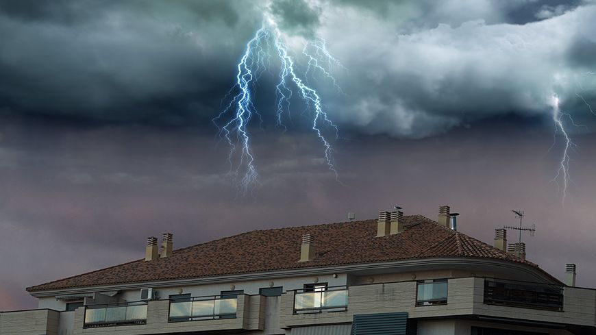 Quand l'orage frappe !!