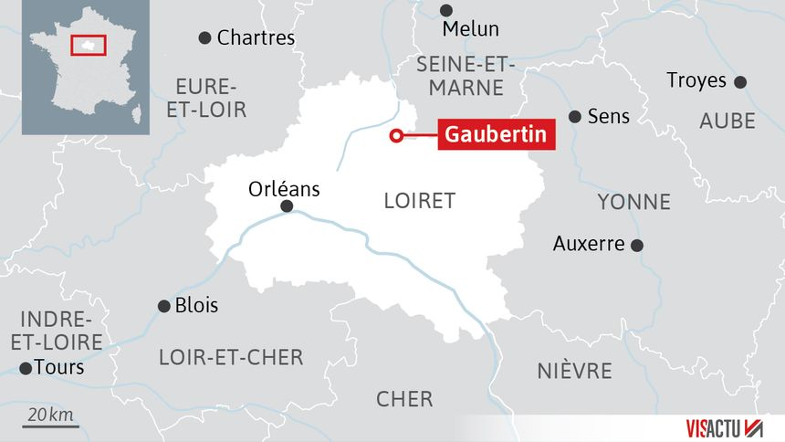 Carte de situation de Gaubertin dans le Loiret.