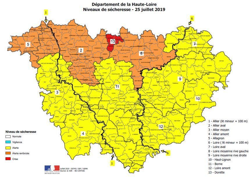 Le nord de la Haute-Loire est particulièrement touché par la sécheresse