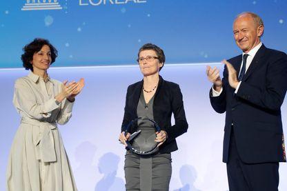 La mathématicienne, Claire Voisin, récompensée par le prix 2019 l'Oréal-UNESCO pour les Femmes et la Science.