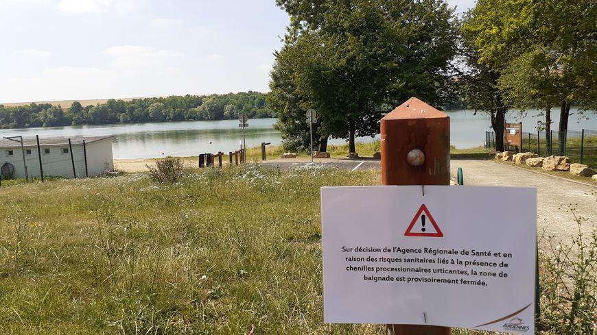 La baignade est interdite au lac de Bairon en raison de la présence de chenilles processionnaires urticantes