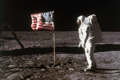 L'astronaute Buzz Aldrin, photographié par le commandant de la mission, Neil A. Armstrong, sur la lune en 1969.