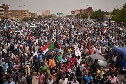 Manifestation d'appel à un gouvernement civil le 30 juin 2019 à Khartoum au Soudan