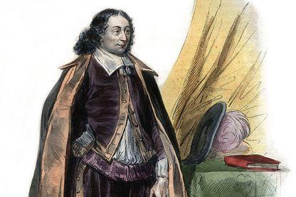 """Blaise Pascal, une illustration du """"Plutarque Francais"""" par Edmond Mennechet en 1836"""