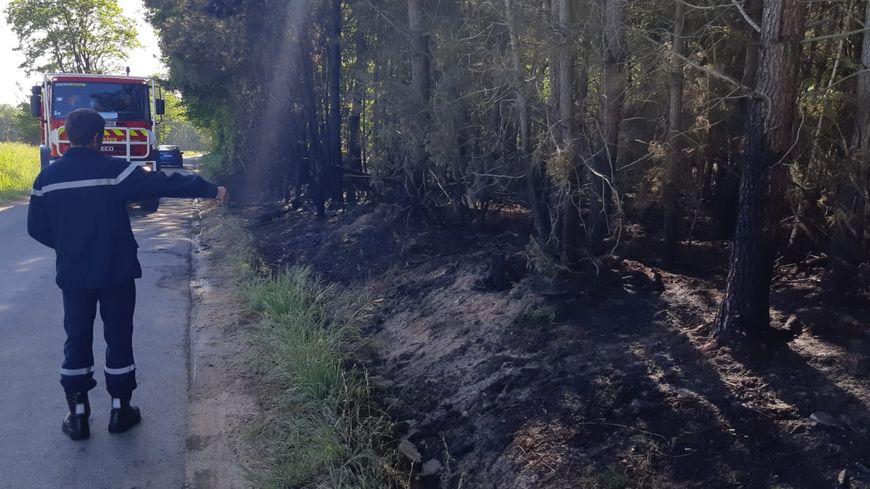 Au même endroit, à Brette-les-Pins, le feu avait déjà pris le 14 mai dernier