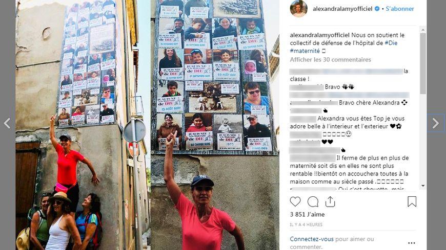 Alexandra Lamy a posté une photo en soutien au collectif de défense de l'hôpital de Die sur Instagram ce mercredi matin