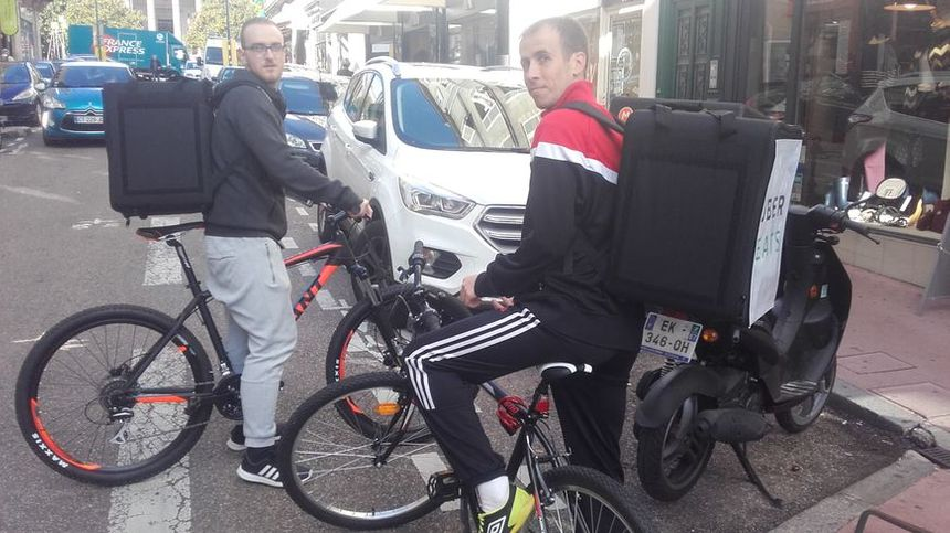 Uber Eats est implanté dans près de 40 villes en France, comme ici à Limoges.