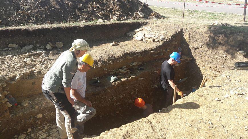 Site de fouilles sur le rempart-ouest de Grand
