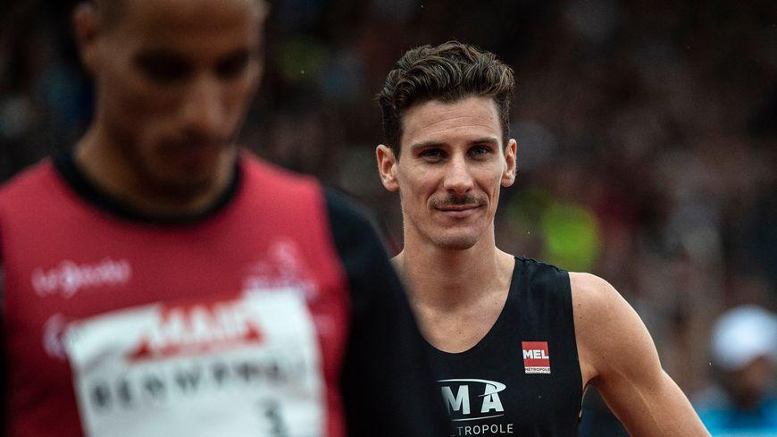 Pierre-Ambroise Bosse à Saint-Etienne pour les Championnats de France.