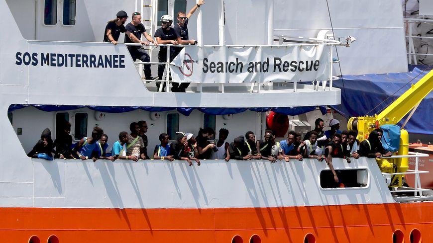 L'Aquarius, le navire de SOS Méditerranée est bloqué par la justice italienne depuis décembre