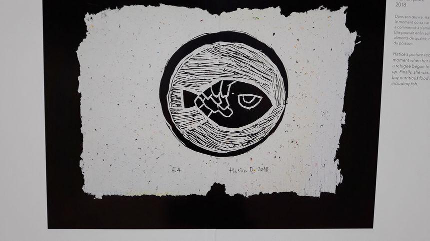 Un poisson dans une assiette, un plaisir simple mais rare pour ces réfugiés syriens