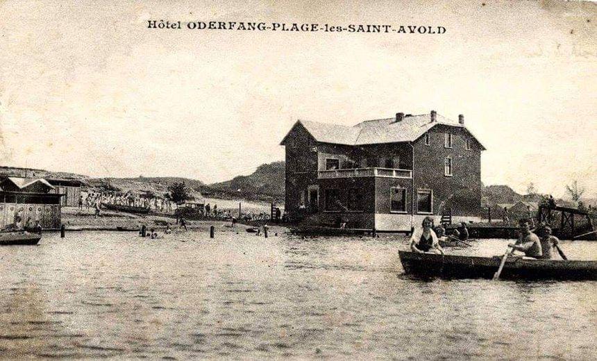 Une carte postale ancienne de l'étang d'Oderfang
