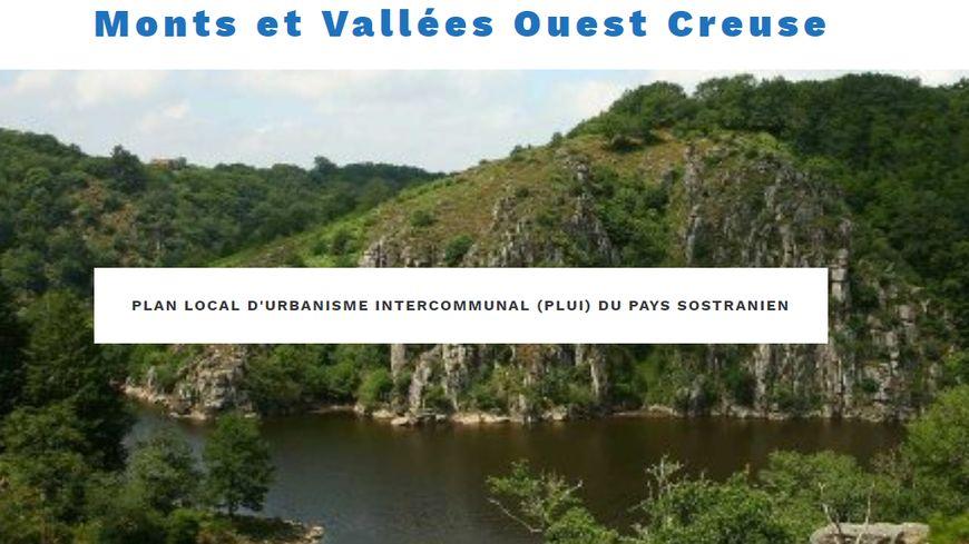 Capture d'écran du site web de la comcom Monts et Vallées Ouest Creuse
