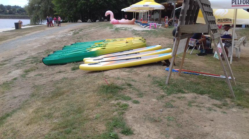 Les canoés et les paddles