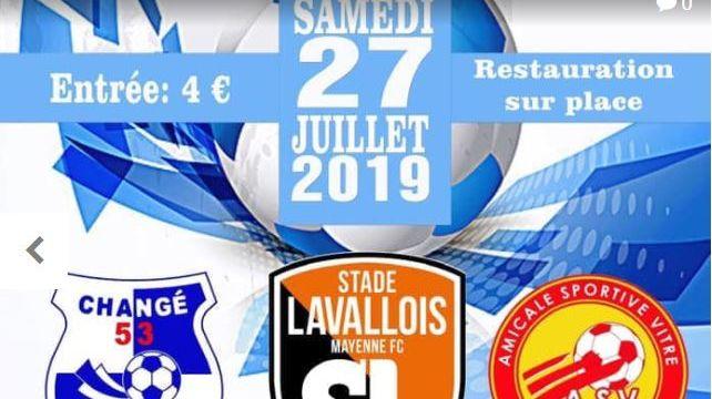 L'affiche du tournoi triangulaire de football 2019 organisé par l'USL
