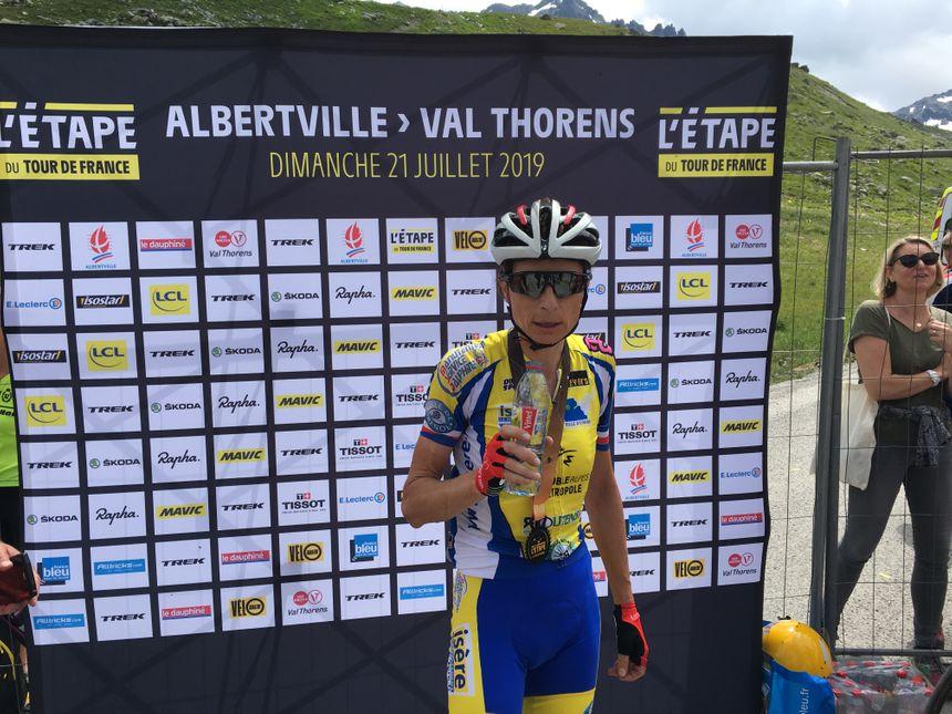 Edwige Pitel a terminé la course en seulement 5 heures et 25 minutes.