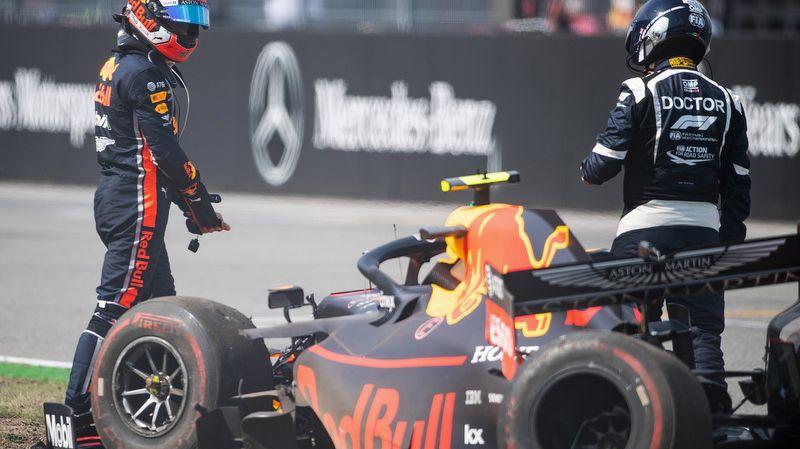 Deux accidents le même week-end pour Pierre Gasly en Allemagne. Mais il n'est pas responsable de celui survenu en course.