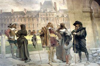 Discussion entre Pascal, Desargues et Descartes