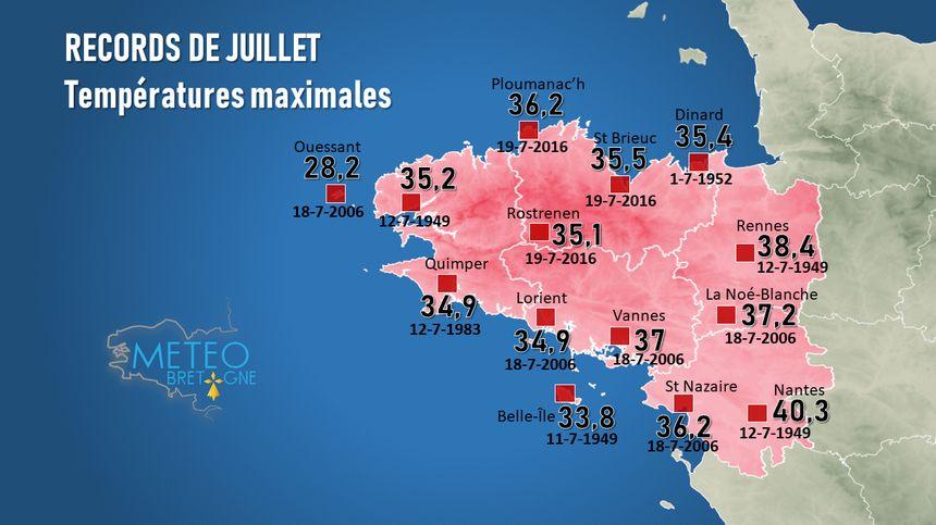 Les records de juillet en Bretagne