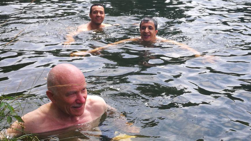 Dominique Gros, Hacène Lekadir et Belkhir Belhaddad