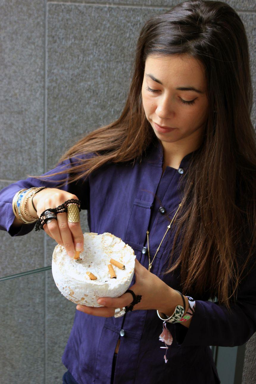 Audrey Speyer et son cendrier-champignon qui absorbent les mégots
