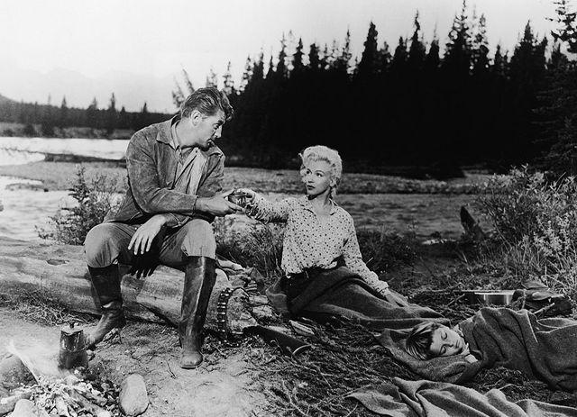"""Image de """"La Rivière sans retour"""" avec Marilyn Monroe et Robert Mitchum"""