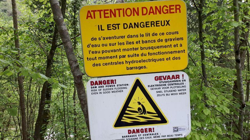 La baignade dans le Fier est signalée comme dangereuse