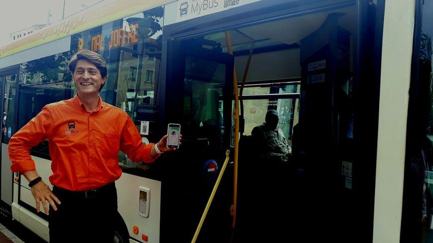 Frédéric Pacotte, co-fondateur de My Bus, présente son application à Limoges