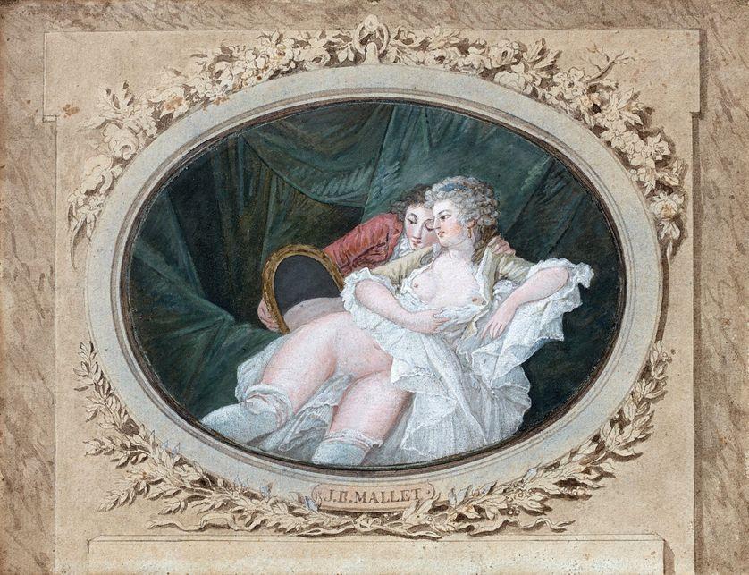 """Jean-Baptiste Mallet, """"Scène de boudoir"""", collection particulière"""