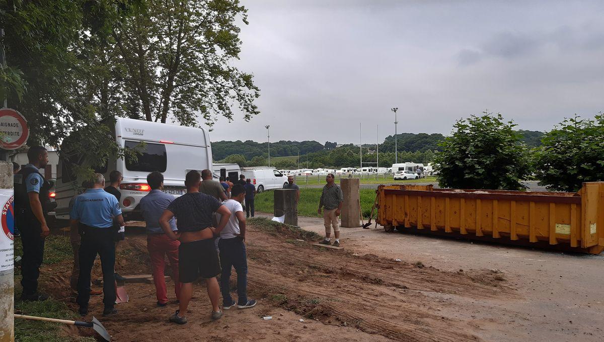 Fait Divers Saint Pee Sur Nivelle ustaritz : 200 caravanes des gens du voyage s'installent de