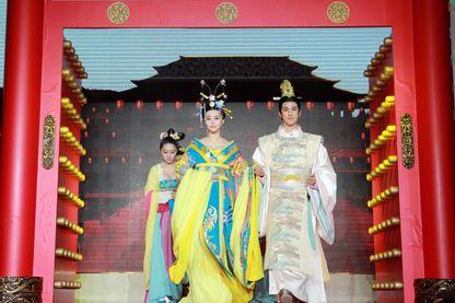 """Conférence de presse du film """"L'impératrice Wu Zetian"""" à Wuxi en 2014"""