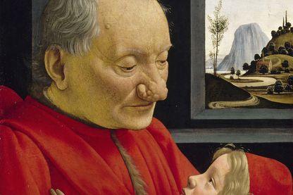 """""""Portrait d'un vieillard et d'un jeune garçon"""" de Domenico Ghirlandio"""