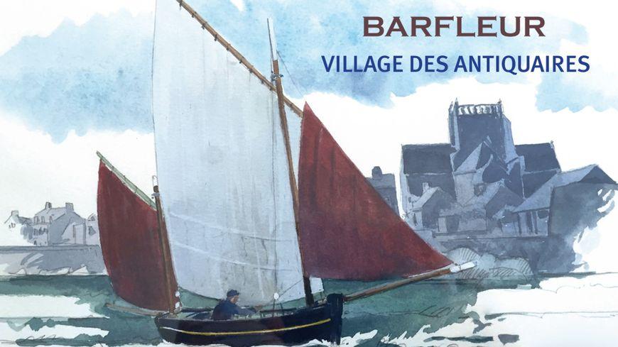 Le Village des Antiquaires de Barfleur avec France Bleu Cotentin