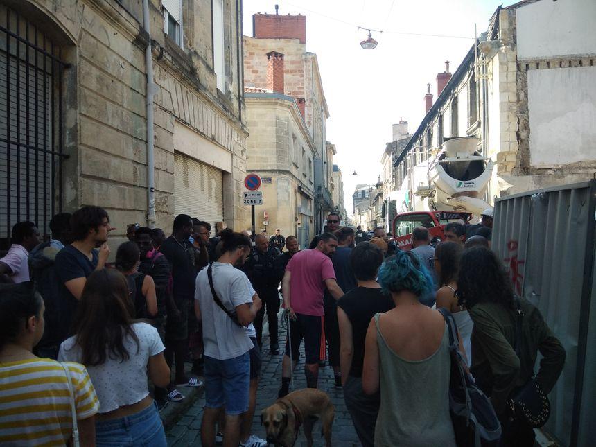 Les forces de l'ordre ont bloqué l'accès à la rue des Cordeliers.