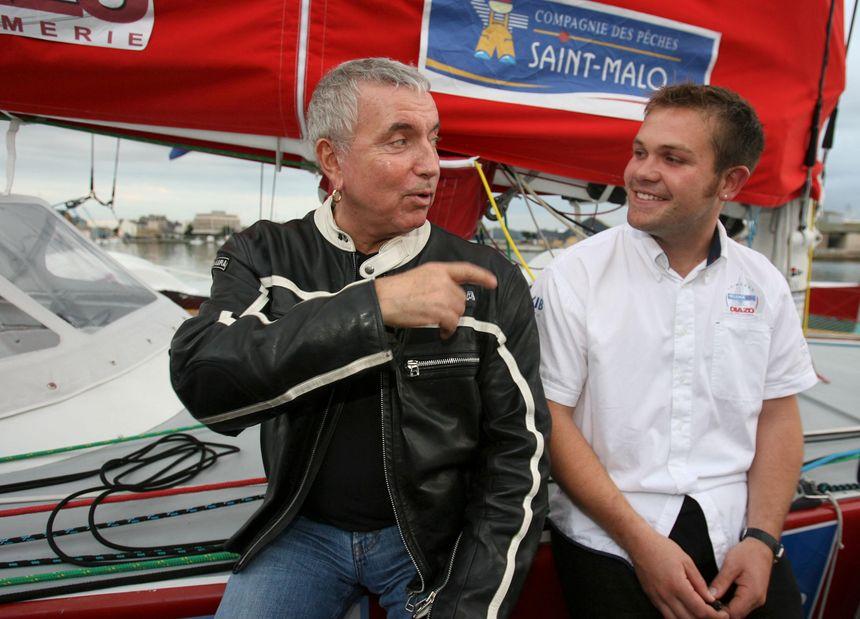 Bernard Lavilliers parrain du skipper Loïc Escoffier lors de la Route du Rhum en 2006