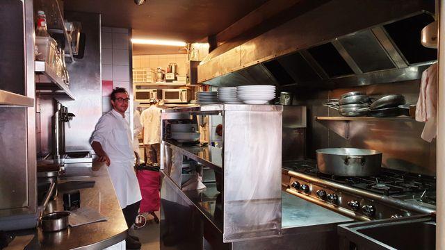 Salvatore Capitano préfère proposer des plats froids à ses clients pour éviter trop d'efforts à son équipe