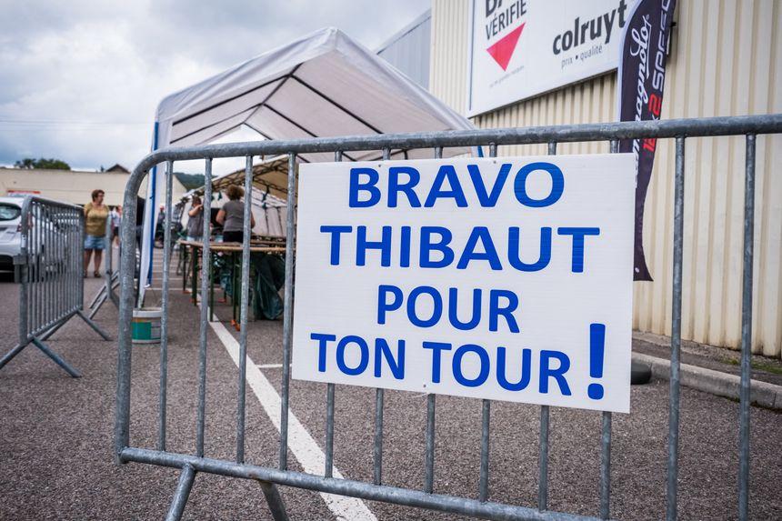 Melisey remercie l'enfant du pays Thibaut Pinot.