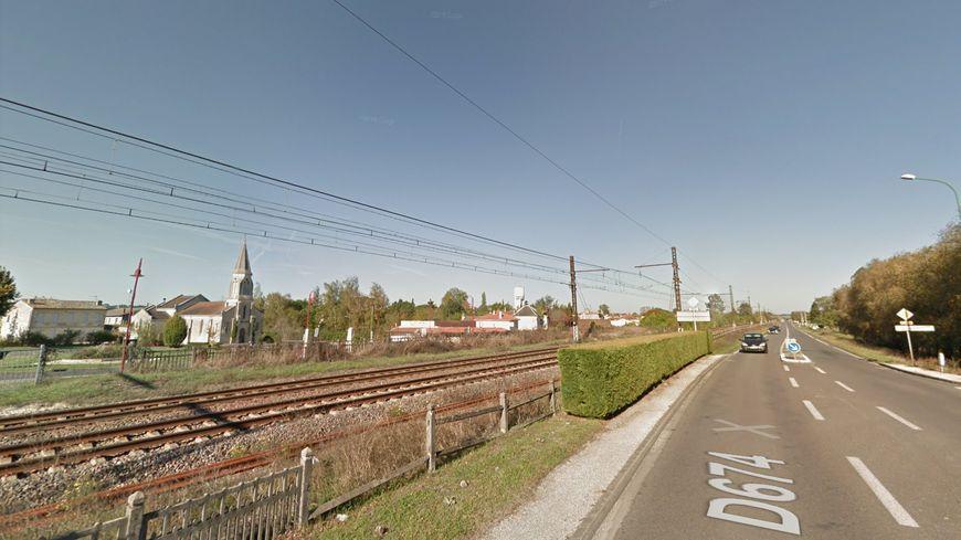 La départementale 674 aux Eglisottes-et-Chalaures en Gironde, où l'accident s'est déroulé