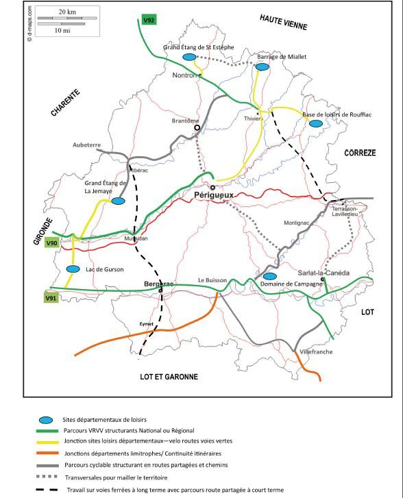 Le plan vélo du département de la Dordogne